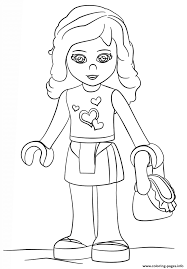 lego girl coloring page lego friends olivia girl coloring pages printable