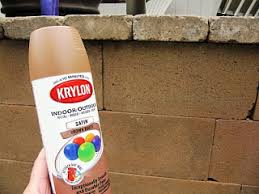 How To Remove Spray Paint From Concrete Patio Beautifying Concrete Block Guest Spray Painting Concrete And