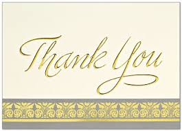 golden thank you card business thank you cards from posty cards