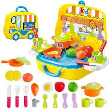 valise cuisine enfants simulation cuisine cuisson couverts ensemble jouet valise