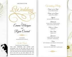 Simple Wedding Program Examples Etsy Your Place To Buy And Sell All Things Handmade