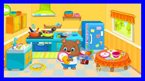 fun baby panda clean messy house kids learn colors makeover