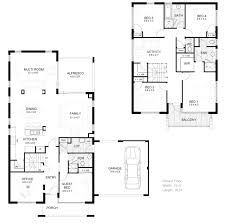 Floor Plan 2 Bedroom Bungalow by Simple Two Story House Modern Two Story House Plans Houses Floor Plan