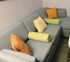 Throw Pillows Sofa by Bedroom Elegant Gray Sectional Sofa With Green Bolster Pillows
