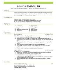Outstanding Resume Examples Dazzling Nursing Resume Examples 6 Nurse Example Cv Resume Ideas