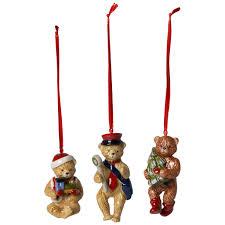 nostalgic ornaments santa ornaments set of 4 3 25 in villeroy