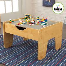 amazon com kidkraft 2 in 1 activity table with board gray