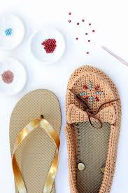 crochet shoes with flip flop soles free moccasin pattern learn how to crochet shoes with flip flop soles with this free crochet moccasin pattern and