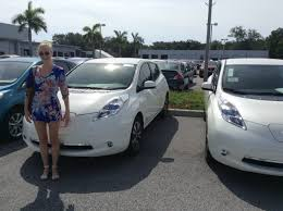 nissan leaf yearly electric cost tesla crushes electric