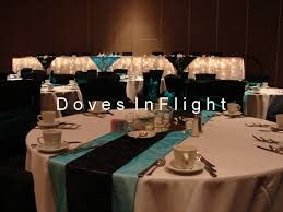 Black Table Centerpieces by Black Table Cloth Head Table Ideas For Wedding Black U0026 Turquoise