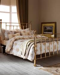 metal bed frame traditional antique brass finish benjamin serene