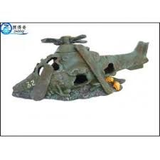 helicopter model unique cool fish tank decorations aquarium