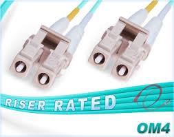 40 Meter To Feet Om4 Lc Lc Duplex Fiber Patch Cables 40 100gb Multimode 50 125 Ofnr Pvc