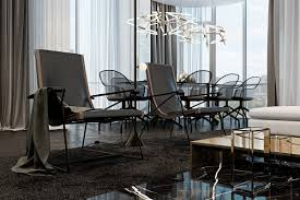 dark dining room three luxurious apartments with dark modern interiors