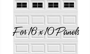 craftsman style vinyl garage door decal kit 16 x 10 faux windows