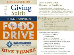 lewis clark shrm thanksgiving food drive lewis and clark shrm