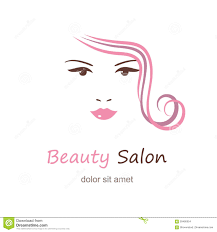beautiful woman vector logo template for beauty salon stock vector