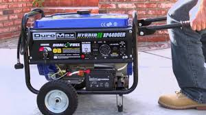 duromax xp4400 gas generator w wheel kit youtube