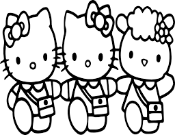 hello kitty and friends coloring page wecoloringpage