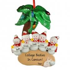 5 friends trip ornament personalized ornaments for you