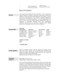 resume template one page word samples of resumes througho saneme