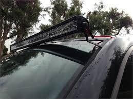roof rack emergency light bar 1999 2014 ford f250 f350 50 straight led light bar brackets automo
