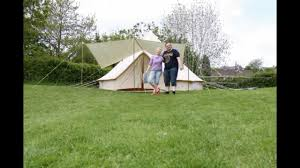 karma canvas bell tent take down in time lapse camping in ipsones