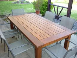 How To Make A Wood Table Top Dining Table How To Make A Rustic Outdoor Dining Table Build