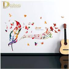 popularne free music stickers kupuj tanie free music stickers darmowa wysy ka kreatywny pioro kelebek wall stickers dla dzieci pokoje azienki wllpaper vinyl kalkomania naklejka muzyka