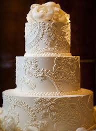 wedding cake lace it should be exactly as you want because it s your party