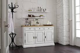 Esszimmer Schrank Shabby Sideboard Anrichte Mit 2 Regalen Wohnzimmer Fichte Antik Weiß