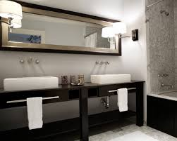 60 double sink bathroom vanity white marble countertop mirror
