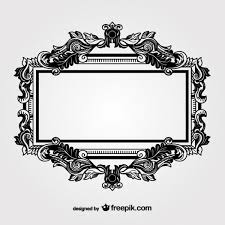 black ornamental frame free vectors 123freevectors