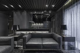 monochrome modernity sleek apartment has a breath taking