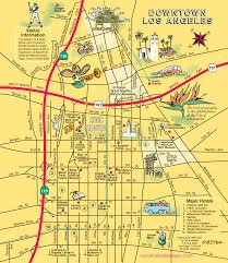 San Diego Downtown Map by Map Of Downtown Los Angeles