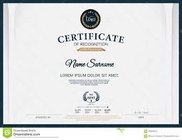 certificate of recognition frame design template layout template