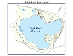 Massachusetts On Us Map by Fresh Pond Reservation Trail Map Water City Of Cambridge