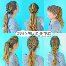 how to style hair for track and field 6 quick and easy sporty athletic workout hairstyles
