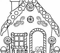 free printable gingerbread house coloring 49 images