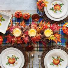 thanksgiving candles create a beautiful centerpiece southern living