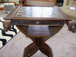 Chess Table And Chairs Rare Vintage Lion Head Italian Savonarola Chess Table W 32 Pc