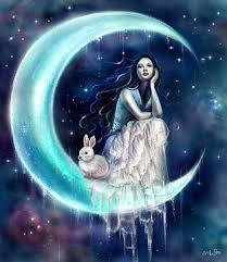 moon images moon rabbit moon goddess wallpaper and background