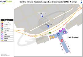 Chicago Ord Terminal Map by Bloomington Normal Central Il Regional Airport At Bloomington