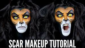 scar lion king halloween makeup tutorial lacey jane youtube
