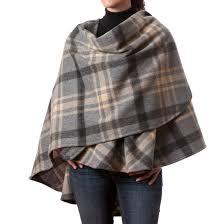 irish wool cape 100 lambswool plaid irish made ebay