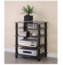 Metal Media Cabinet Component Shelf Stereo Cabinet Audio Rack Media Storage Component