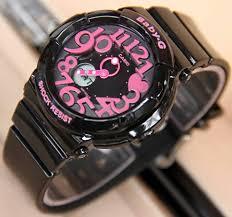 Jam Tangan Baby G Warna Merah jual jam tangan wanita casio baby g sherina bga 130 black pink
