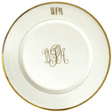 monogrammed dishes personalized china dinnerware monogramming gracious style