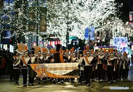 magnificent mile lights festival 2017 26th magnificent mile light festival parade held in u s xinhua