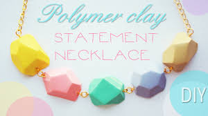 diy jewelry statement necklace images Polymer clay statement necklace tutorial jpg